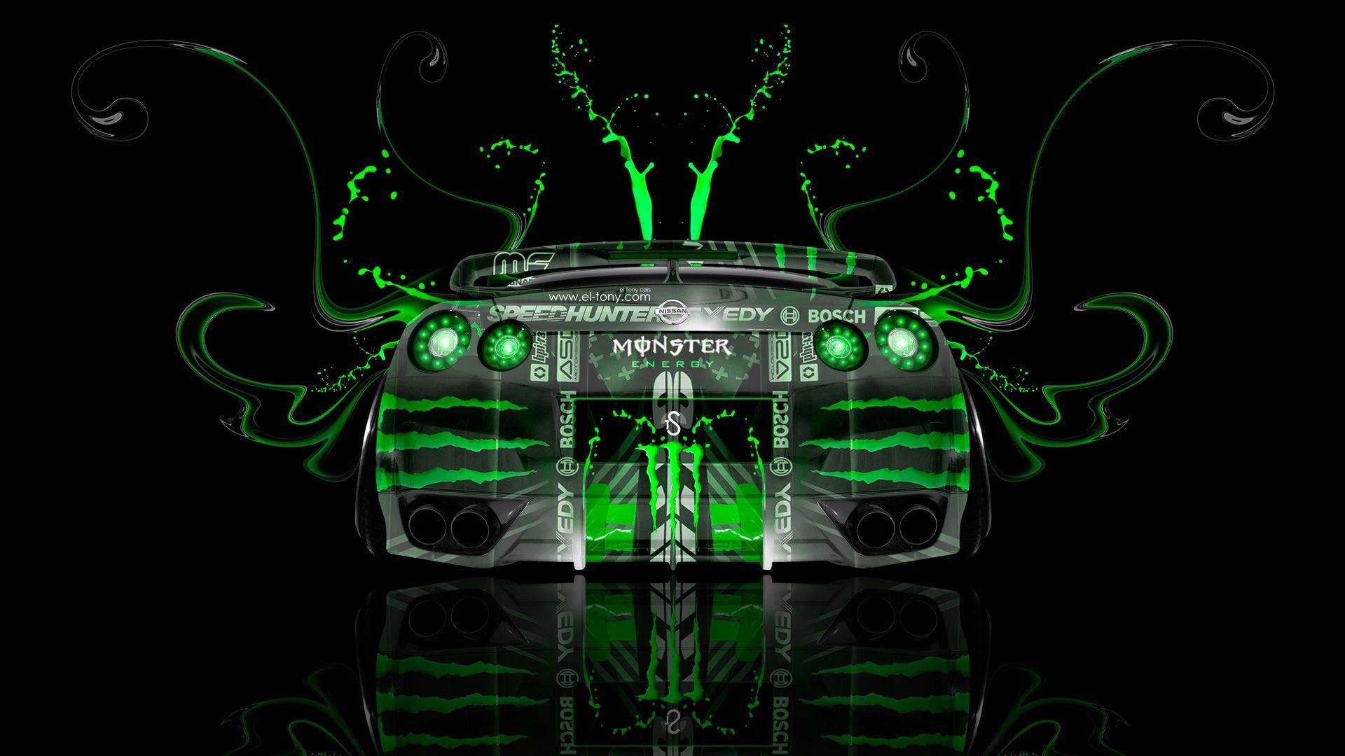Monster Energy Nissan GTR R35 Fantasy Back Plastic  Design Inspirations