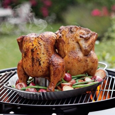 Two in One Vertical Chicken Roasting Pan | Roasted chicken