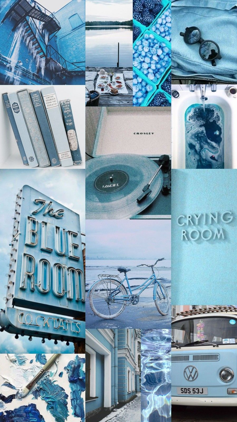Wallpaper Background Collage Aesthetic Music Color Blue Light Blue Soft Blue Aesthetic Screen Wallpaper When Im Bored