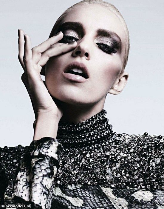 Anja Rubik in 'Ecstasy of the Moment' - by Hedi Slimane. Makeup by Gucci Westman. Vogue Japan March 2012