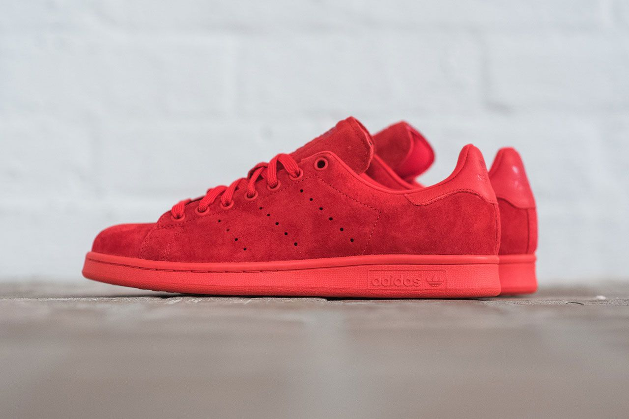adidas stan smith rouge daim