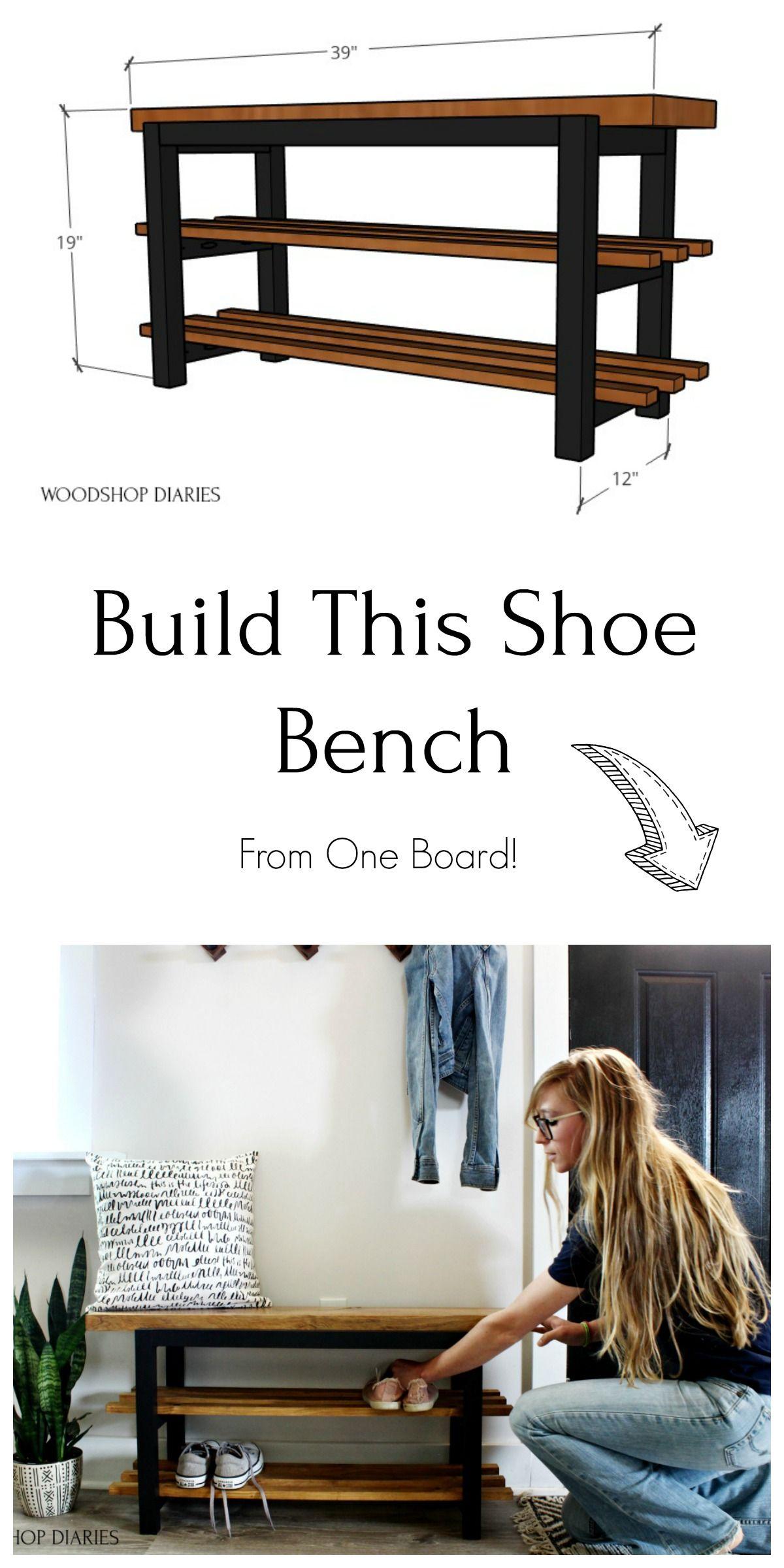 Photo of DIY Shoe Bench–Free Plans!