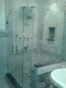 neo angle shower doors - traditional - bathroom - new york