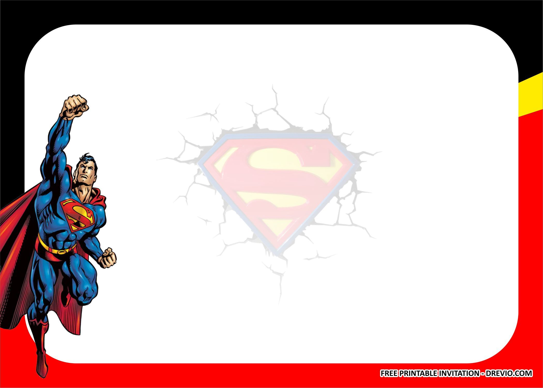 Free Printable Superman Birthday Party Kits Templates Di 2020