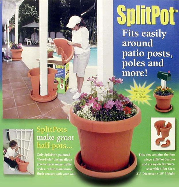 Instantly Update The Look Of Your Yard With This Split Potplanter