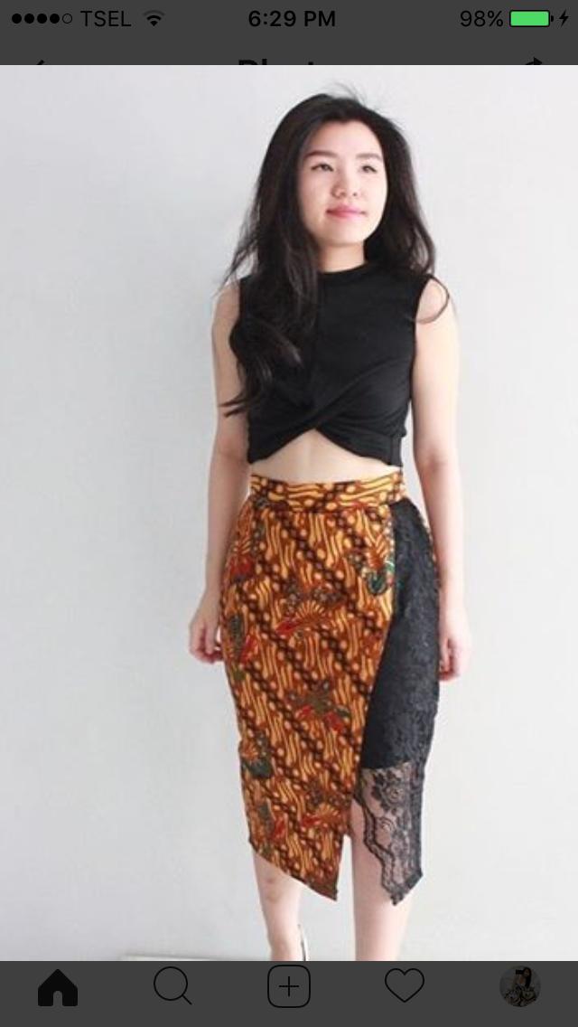 Model Rok | Desain blus, Model pakaian, Pakaian wanita