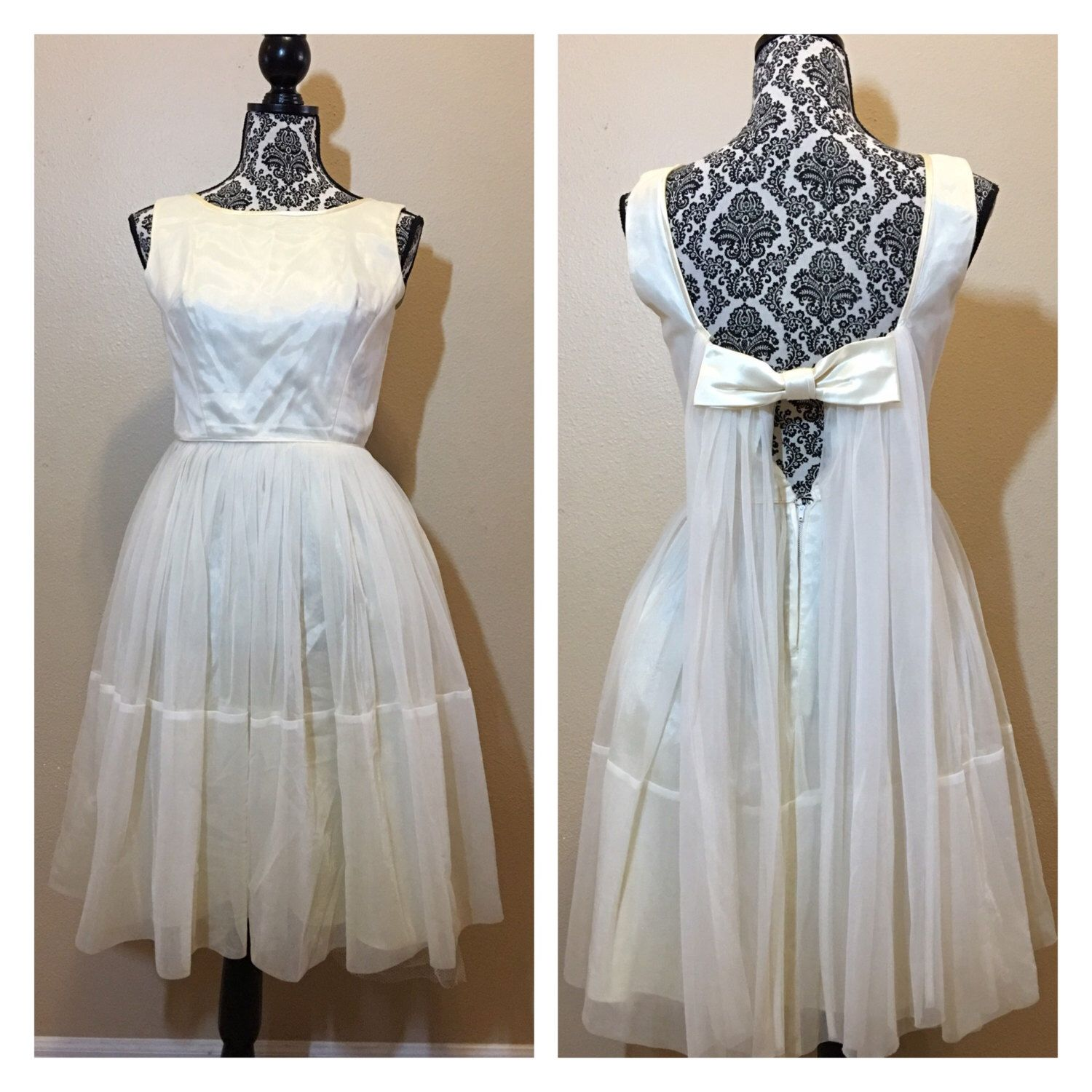 Vintage short wedding dress s wedding gown short wedding