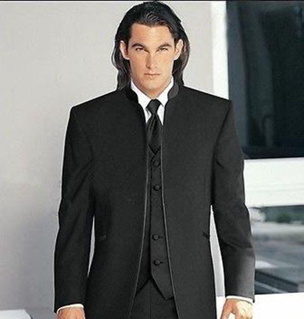 Custom black Mens wedding Groom Tuxedos Bridegroom Best Man Suit ...