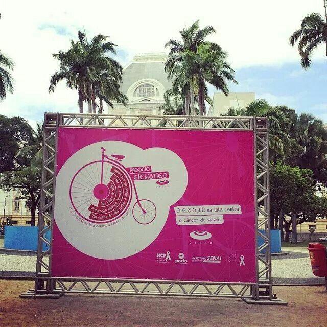 Passeio ciclístico pelo #outubrorosa no Recife. Hoje, 18/10, com concentração a partir das 14h30, em frente ao Paço Alfândega!