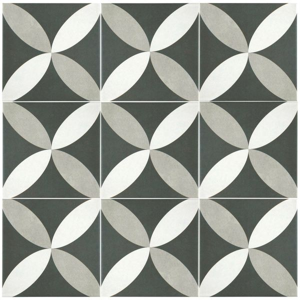 Somertile 7 75x7 75 In Thirties Petal Ceramic Floor And Wall Tile Case Of 25 Overstock Com Shopping The Bes Ceramic Floor Floor And Wall Tile Merola Tile