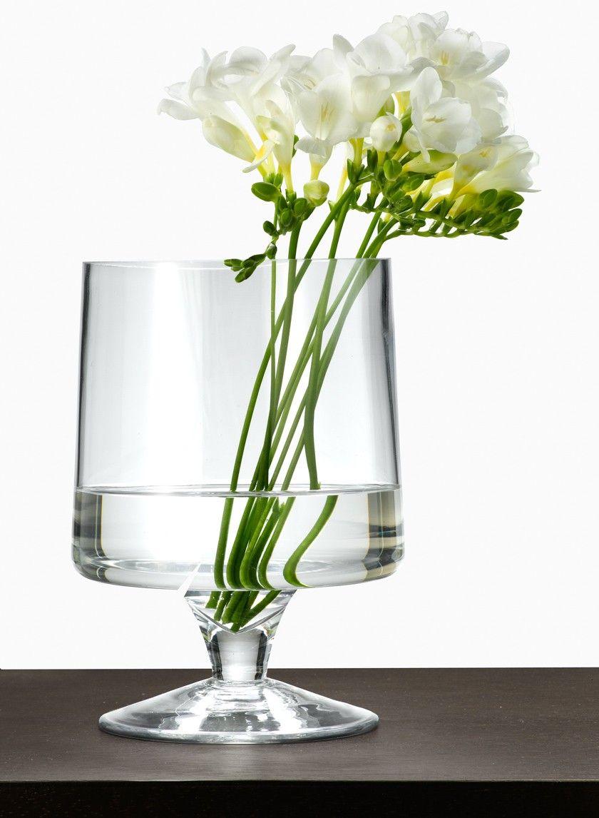 6 X 9in Clear Pedestal Vase Pedestal Vase Glass Vase Decor
