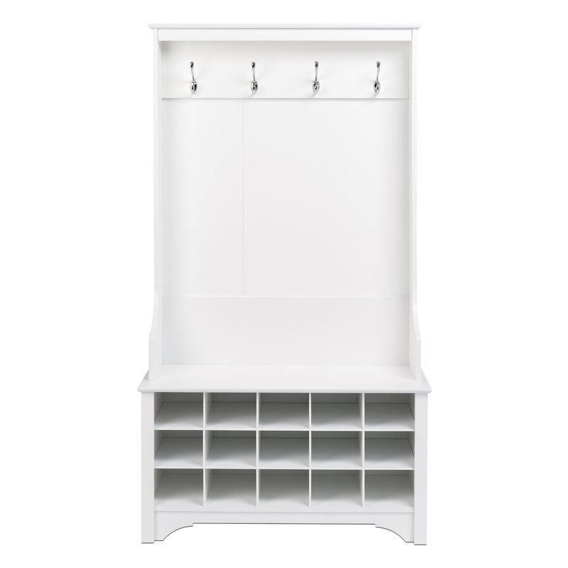Howlett Hall Tree With Shoe Storage In 2020 Hall Tree White Hall Tree Bench With Shoe Storage
