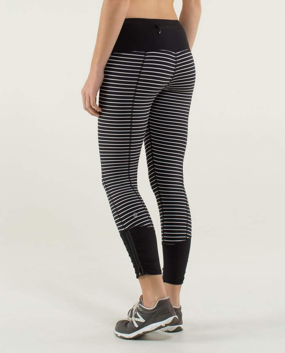 396de6f1b1423c Lululemon Runday Crop parallel Stripe. Size 2 love love love these ...