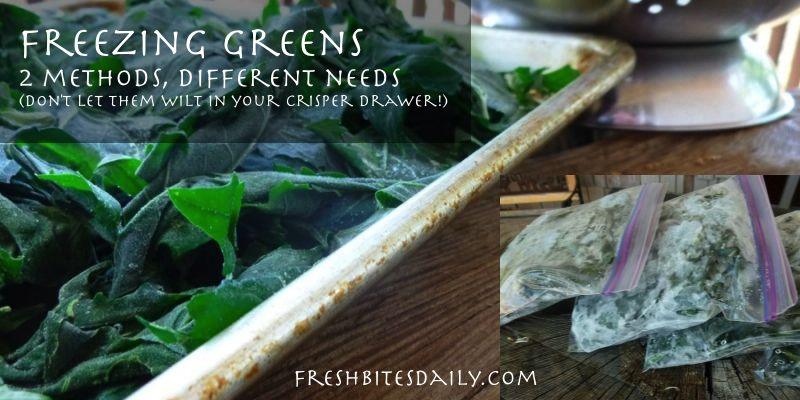 How to freeze greens spinach kale collards swiss chard