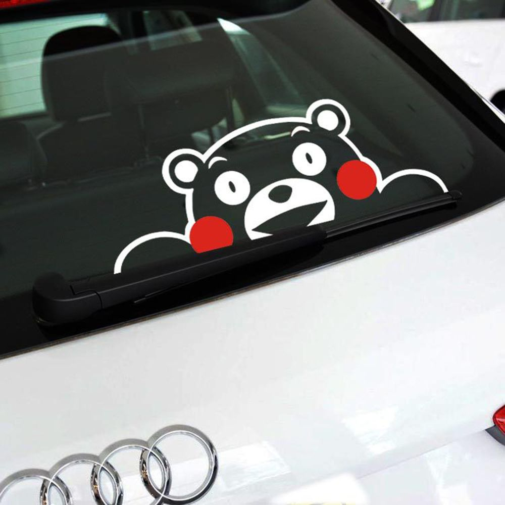 Reflective Kumamon Pawing At The Window Hollow Style Suit Dark - Funny decal stickers for carssticker car window picture more detailed picture about funny car