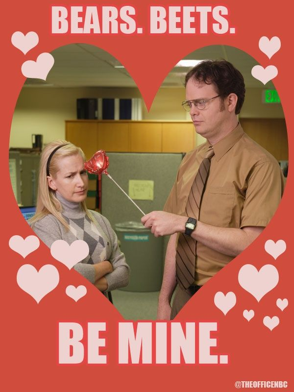 The Office Valentine S Day Google Search The Office Valentines Dwight And Angela Valentines Memes