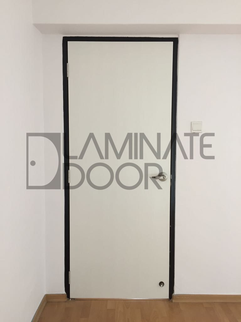 Full Solid Bedroom Door install for HDB with Laminate Design. Get 3 ...