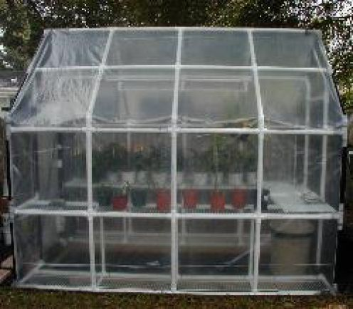 homemade backyard greenhouses pvc greenhouse backyard and gardens - Pvc Frame Greenhouse Plans