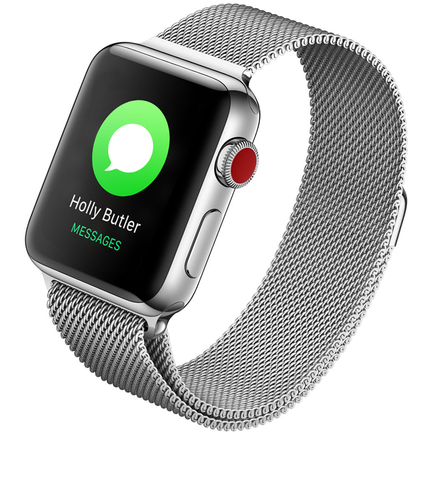 Apple Watch Series 3 Stainless Steel 38mm Case Milanese