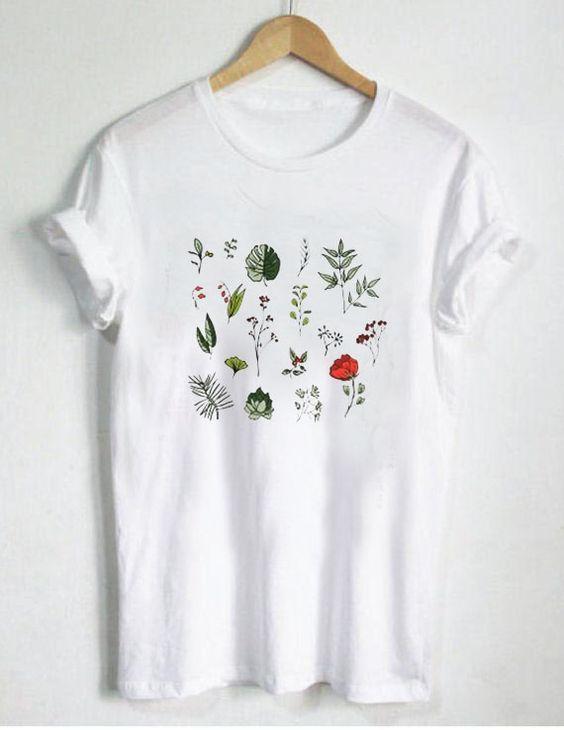 Cute Botanical T Shirt Fd2n In 2020 Simple Shirts Printed