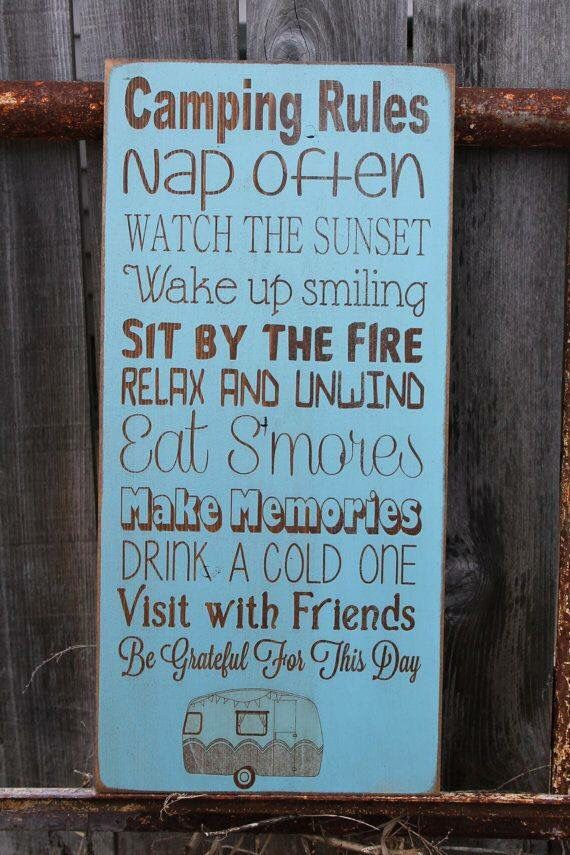 Glamping sign