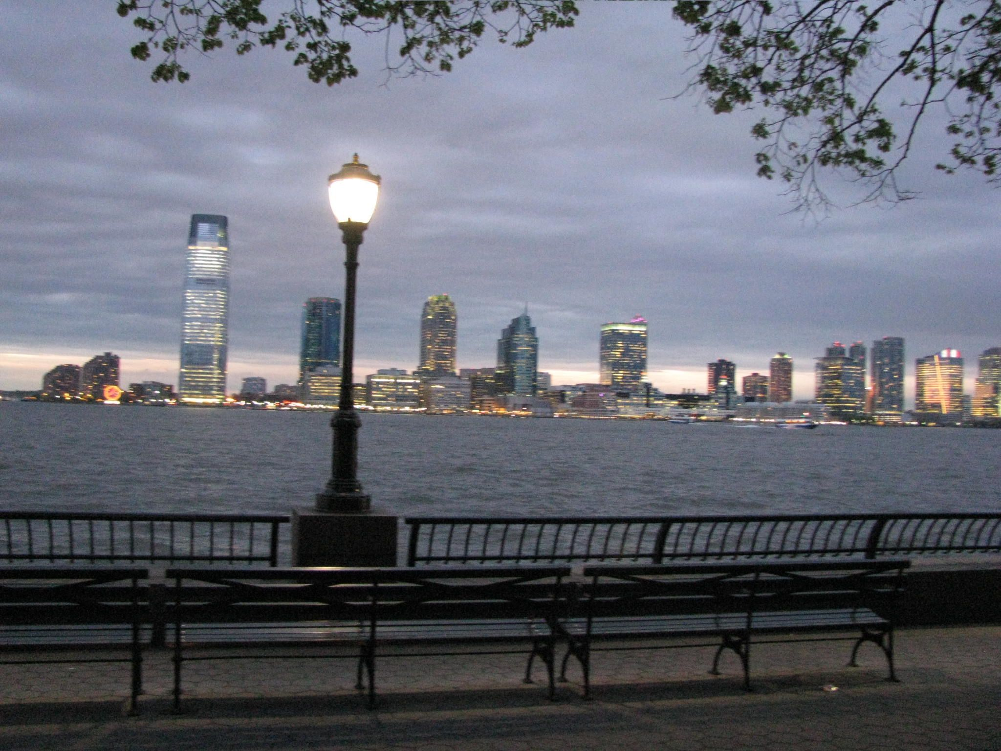 Jersey City As Seen From Battery Park City Park In New York Jersey City Battery Park City
