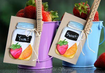 SRM Stickers Blog - Guest Designer - Virginia Lu - #guestdesigner #virginialu #card #tags #janesdoodles #clearstamps #doilies #chalkboard #markers #kraftpillowboxes #twine