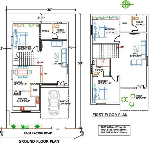 1000 Sq Ft Duplex Indian House Plans 20x30 House Plans Indian House Plans 2bhk House Plan