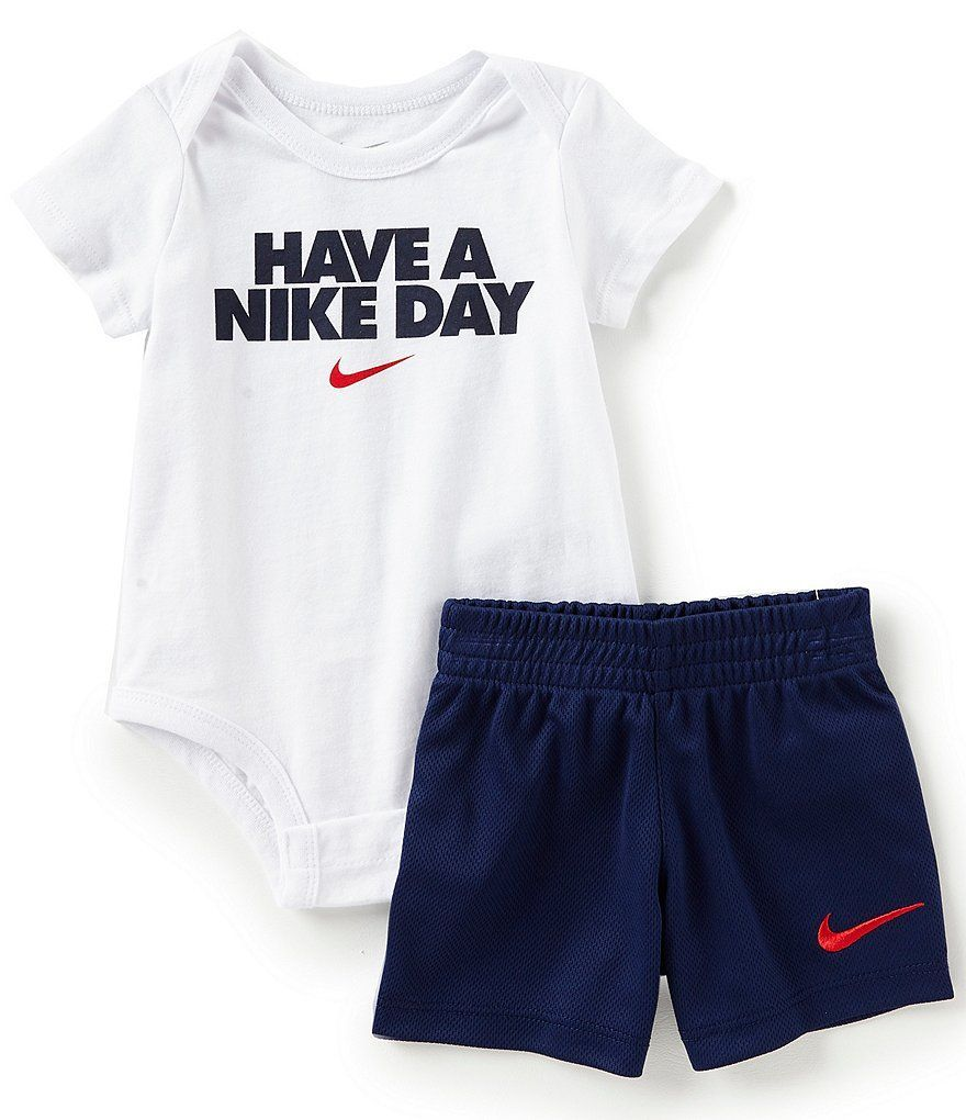 89271b2e5 Nike Baby Boys Newborn-12 Months Short-Sleeve Have A Nike Day Bodysuit and