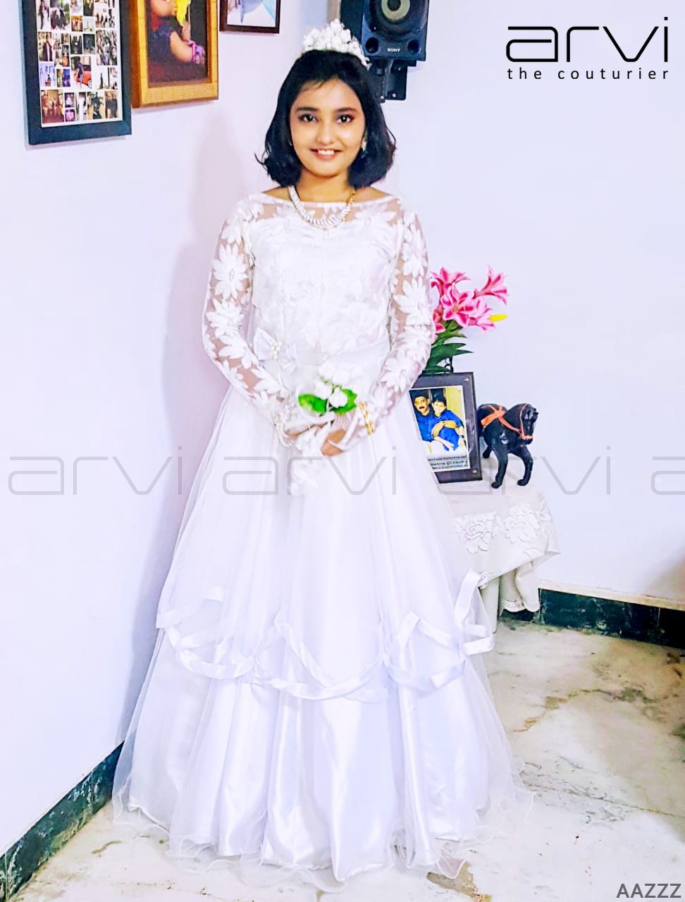 Custom Tailored Gown By Arvi The Couturier Kidswear Kids Kidsoutfit Happy Happykid Holy Gown Designer Des Kids Dress Kids Dresses Flower Girl Dresses