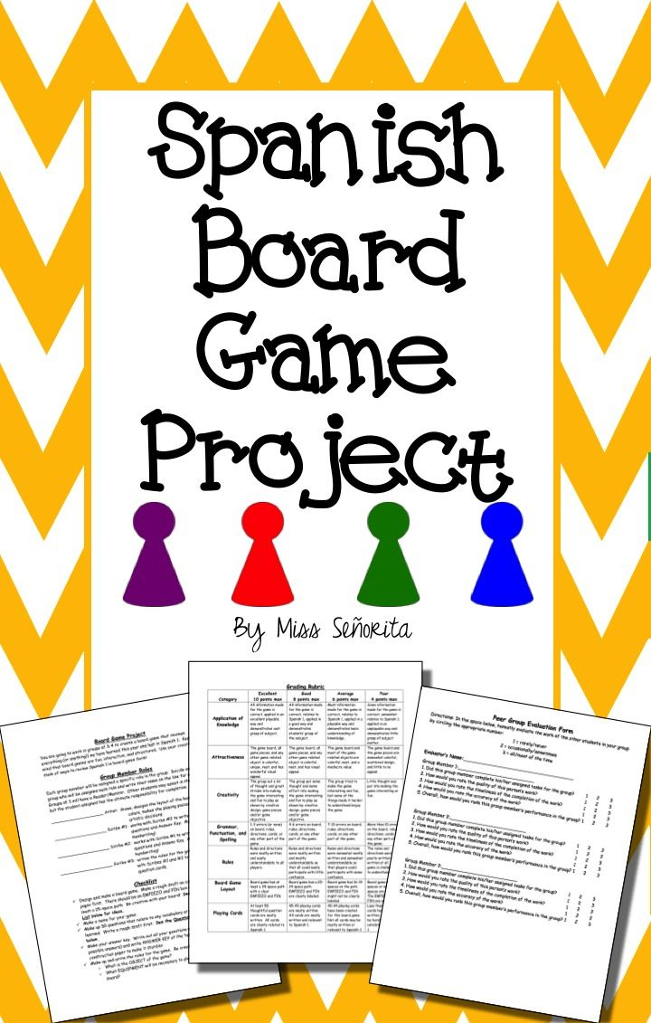 Spanish Board Game Project Board Games Grammar And Vocabulary