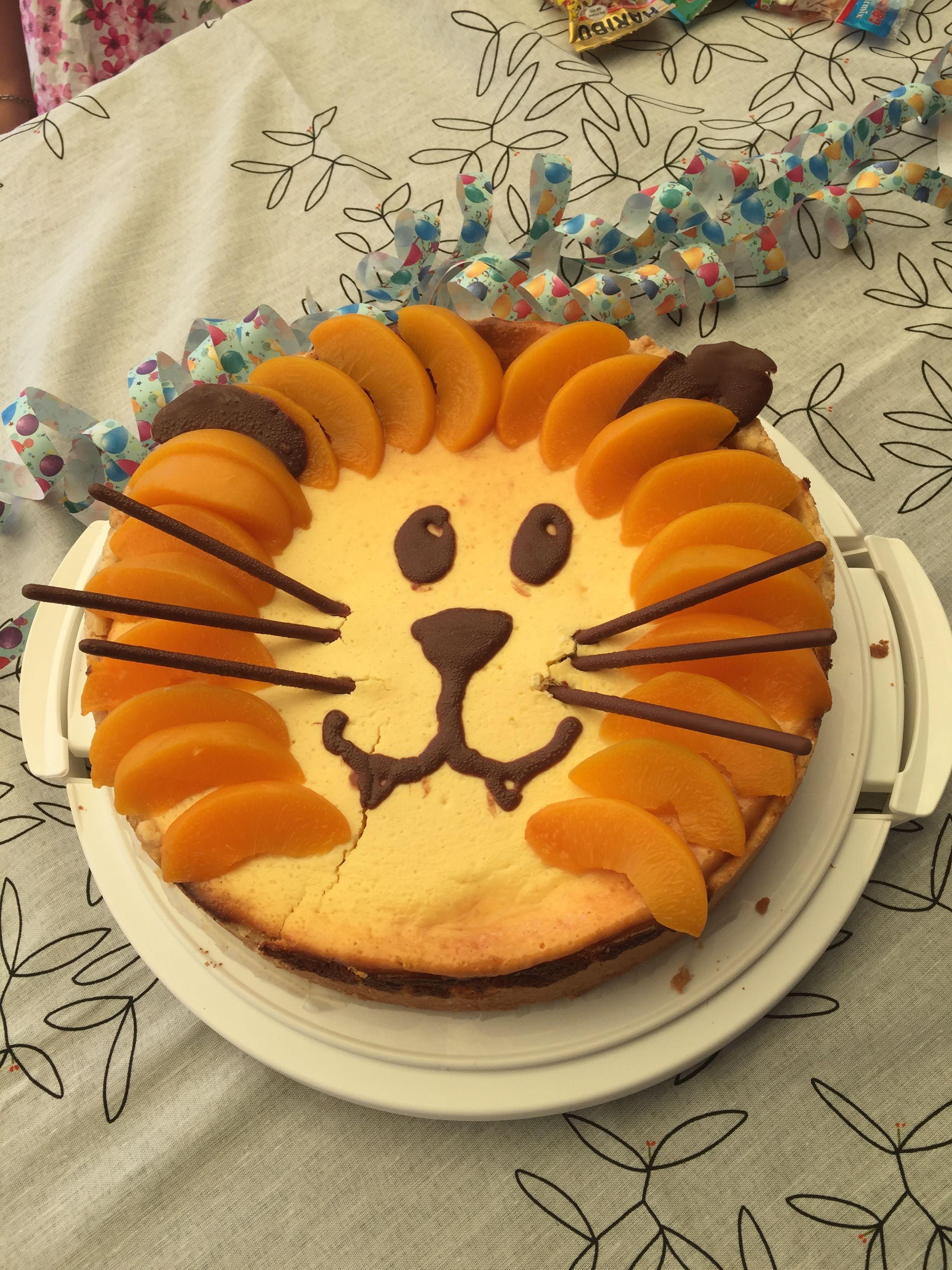 Tarta de queso convencional en estilo león # pastel de cumpleaños para niños …