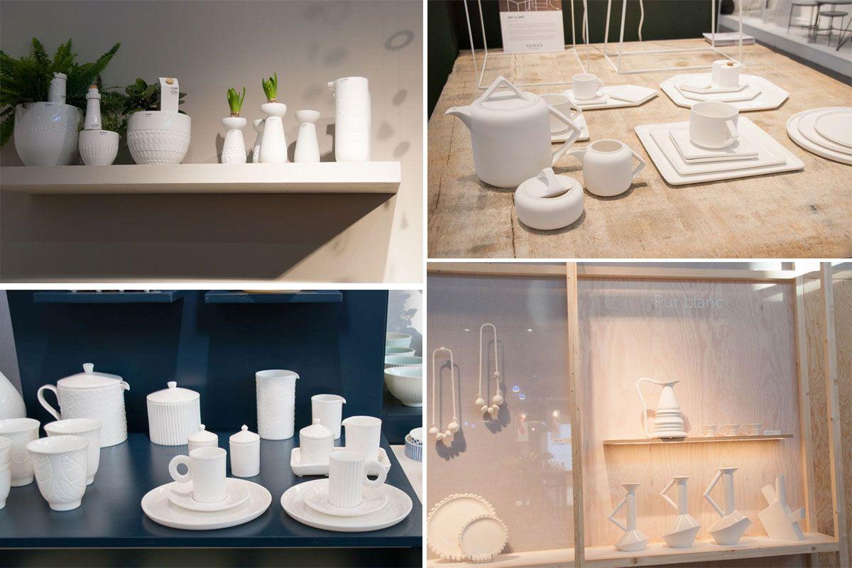 Maison et objet couleur tendance en décoration la chouette echoppe 2017 blanc vaisselle