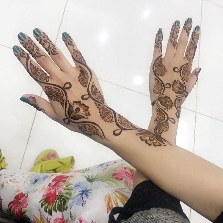 صور نقش الحناء Henna Hand Tattoo Henna Designs Latest Henna Designs