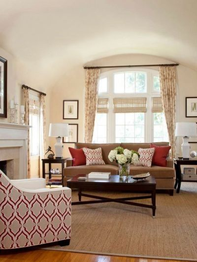 Living Room Ideas Neutral Color Scheme With Nice Pops Of Red And Pattern Living Room Red Living Room Color Schemes Living Room Color