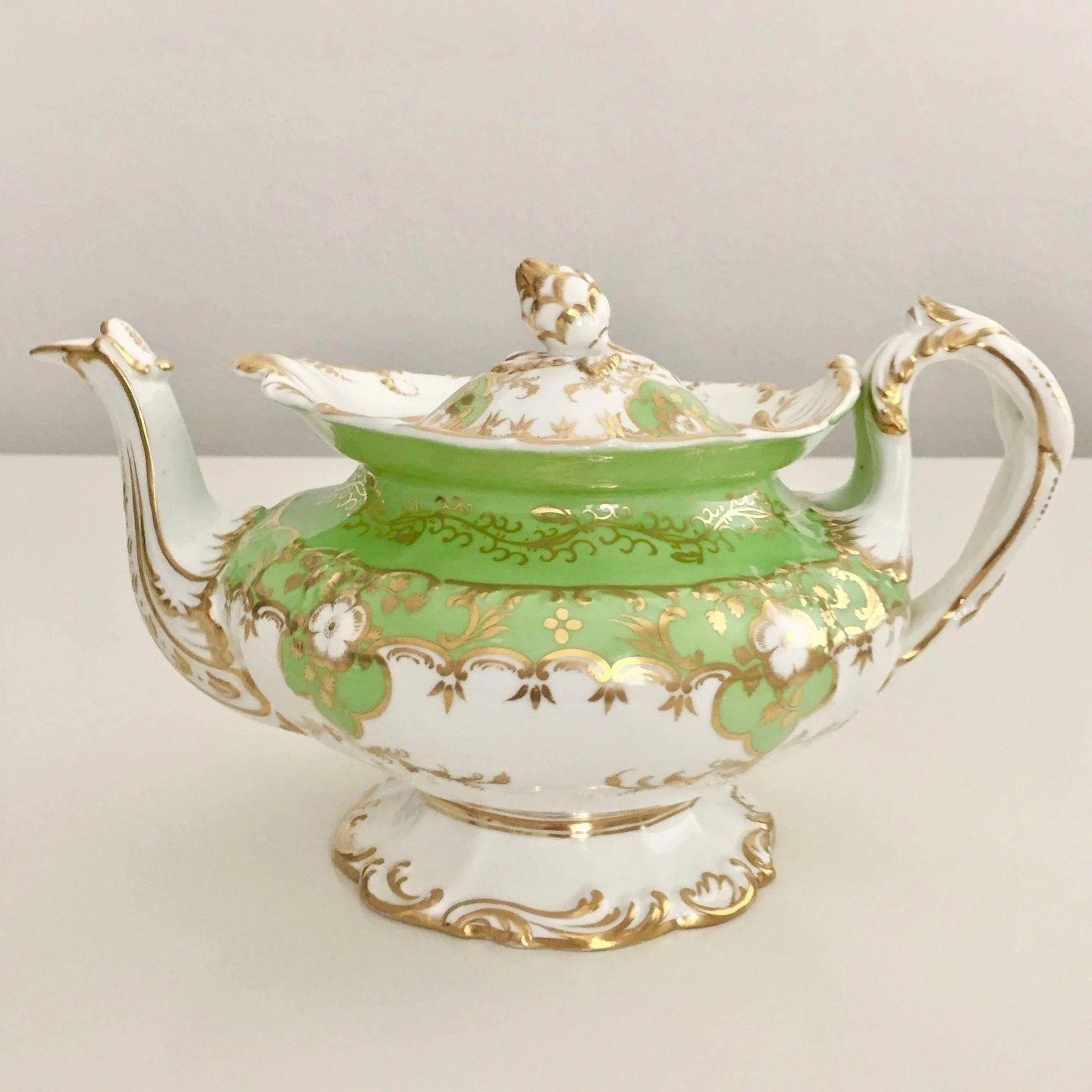 Stunning antique Minton full tea service, Rococo Q-shape patt. 4606 ...