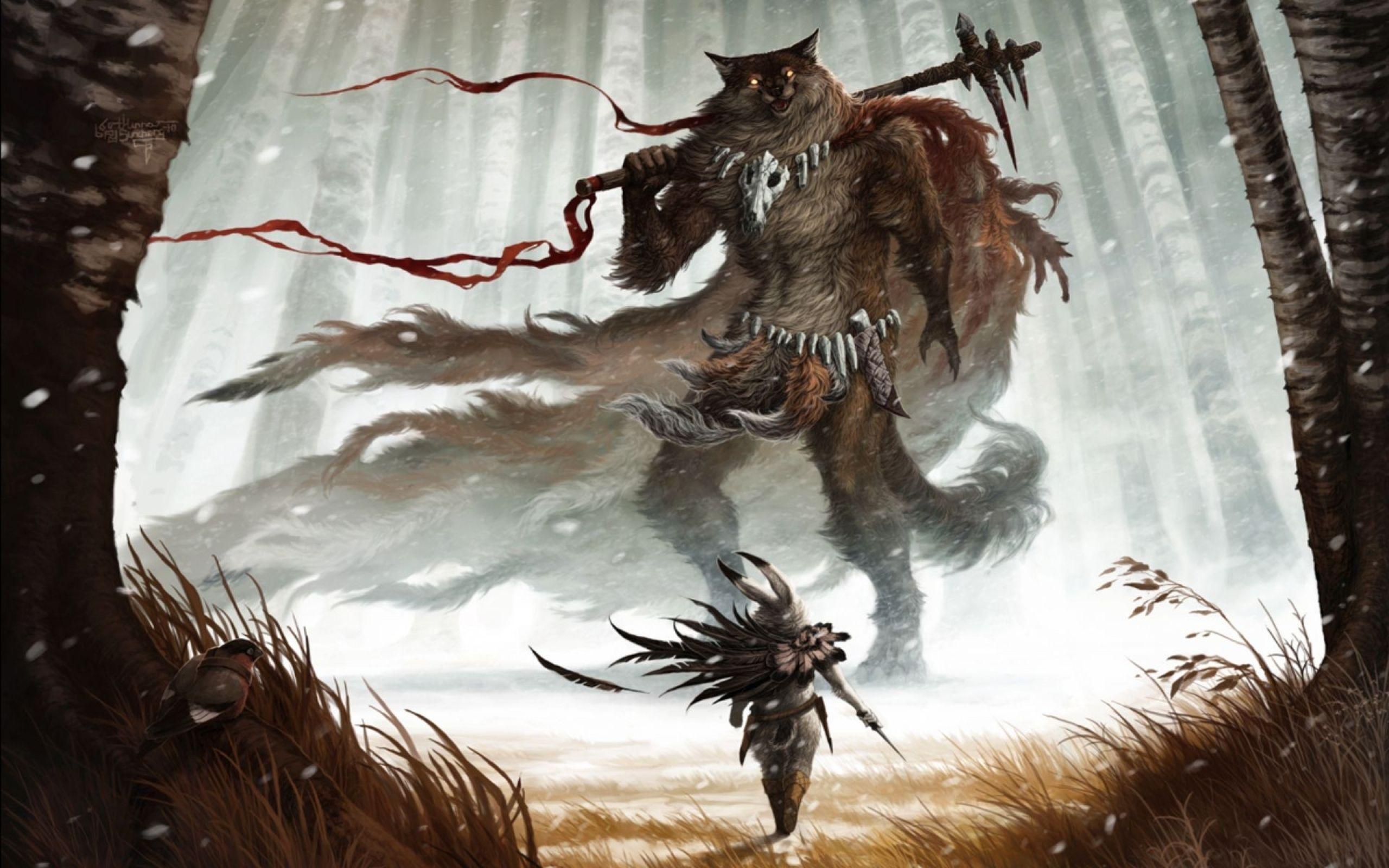 Dreamy Fantasy Wolf Monster Artwork Wallpaper Art Monster Artwork Warriors Wallpaper