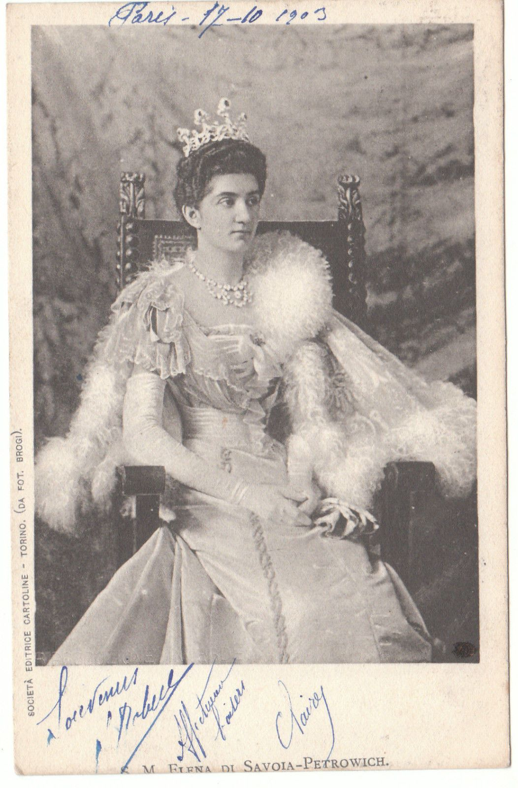 Italy 1903. This is Queen Elena of Italy, the former Princess ...