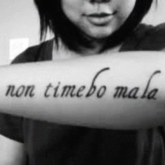 Supernatural Tattoo....i Will Fear No Evil