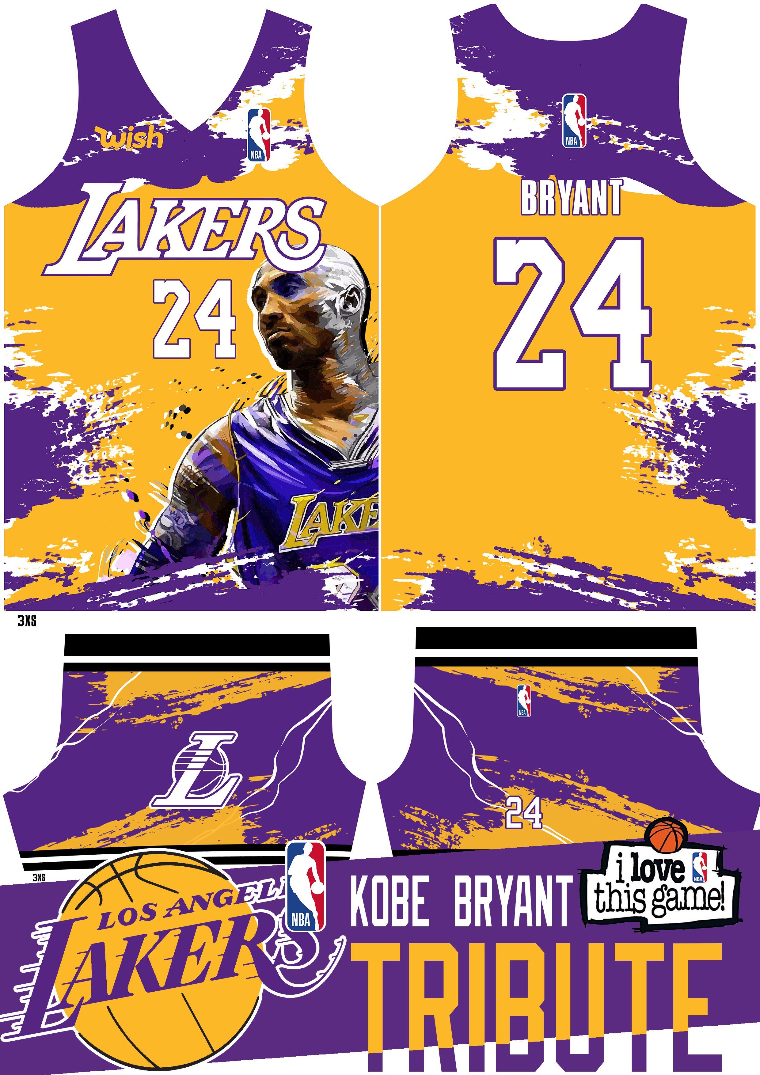 Kobe Bryant Basketball Jersey Tribute In 2020 Basketball Jersey Bryant Basketball Custom Baseball Jersey