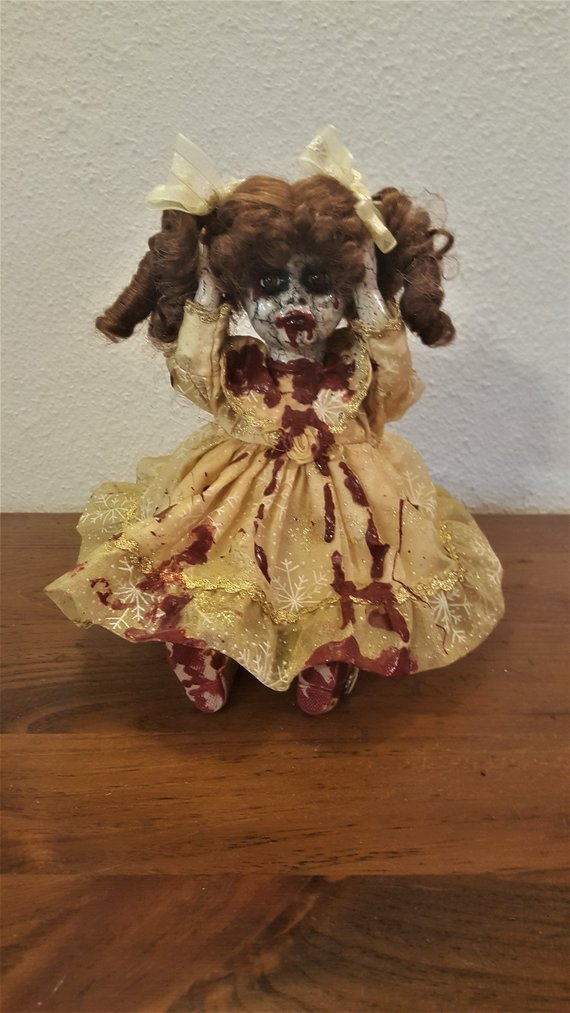One-of-a-kind Upcycled Repurposed Porcelain Doll Creepy Doll Art