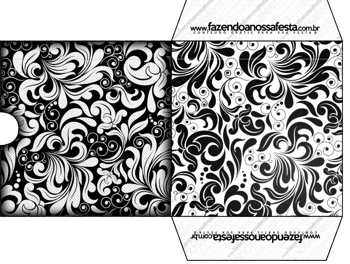 Populares FNF-Arabesco-Preto-e-Branco_43 | Envelopes UY45