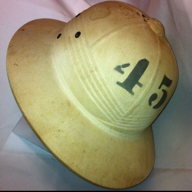 ANTIQUE - Vintage PITH HELMET SAFARI HAT 1945 J C  Wilson NJ