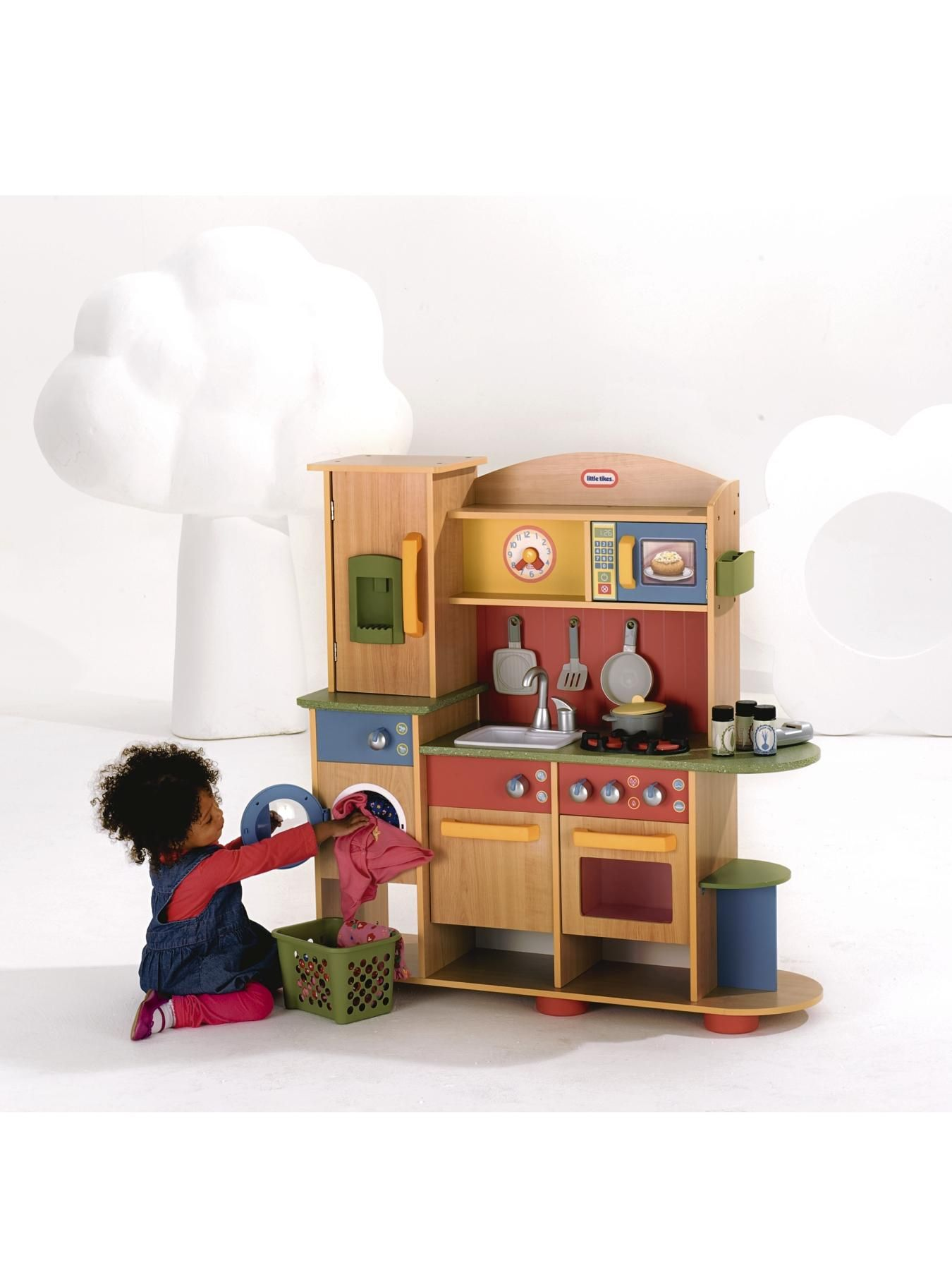 Little Tikes Premium Wood Home and Kitchen | Toy kitchen, Wooden toy ...