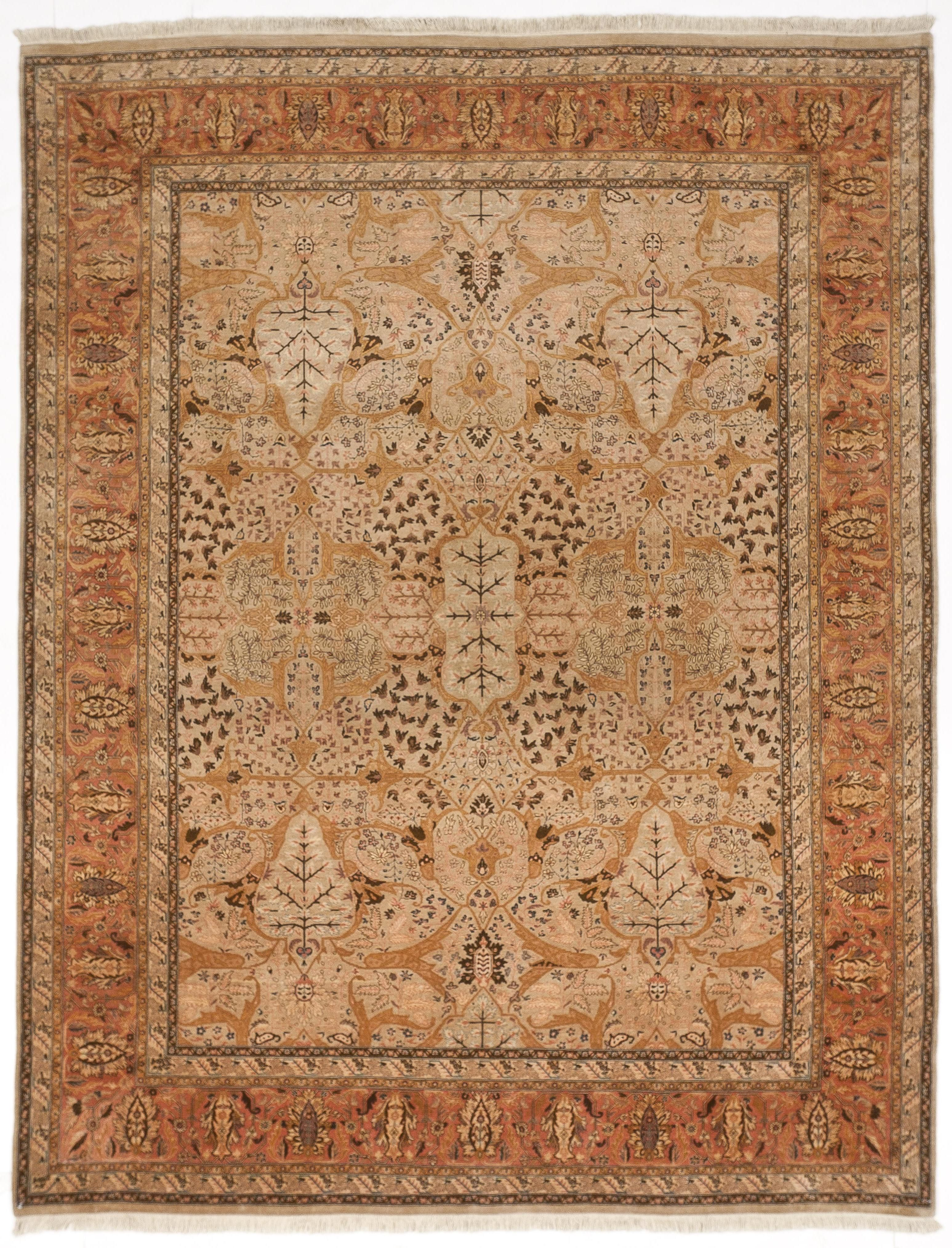 Genuine Hand Knotted Agra Rug From Nasser Luxury Rug Indian Rugs Rugs On Carpet Dark Carpet