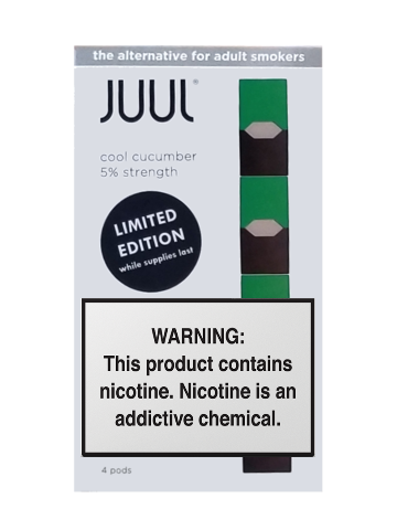 Cool Cucumber Juul Pods Available In Store And Online Now 50 Nicotine Subtle