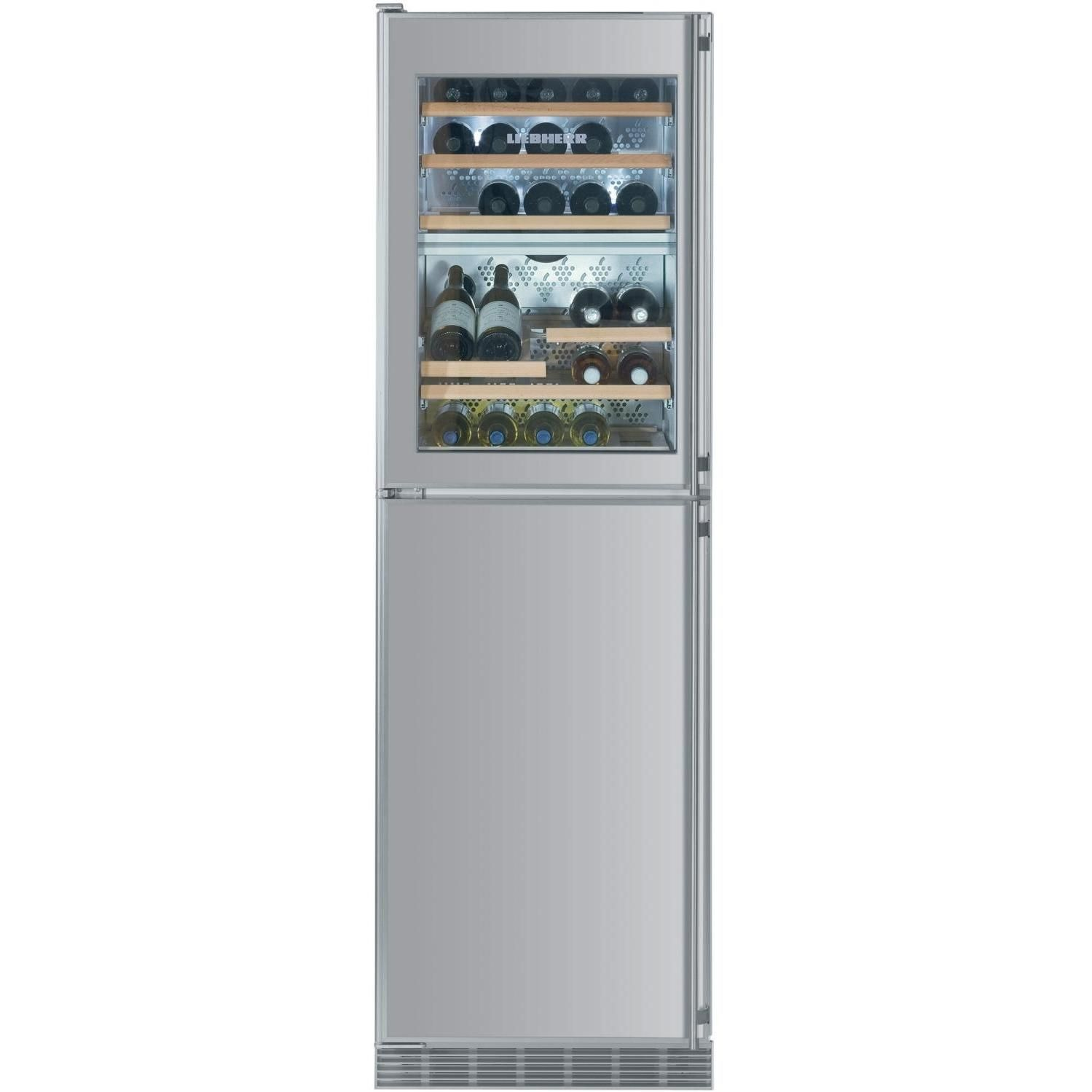 liebherr 34 bottle builtin wine cooler freezer with ice maker stainless steel wf1061 - Built In Wine Fridge