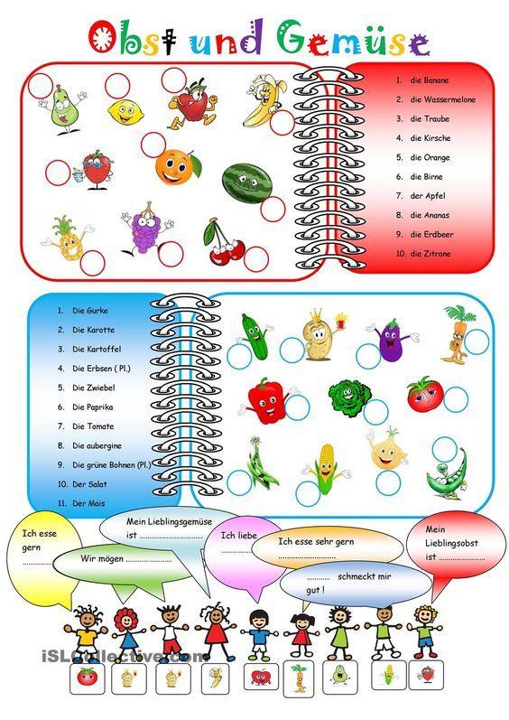 Obst und Gemüse   Deutsch   Pinterest   Obst, Obst und gemüse und ...