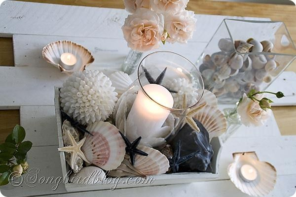 Roses Shells And Sea Stars Beach Vibe And Nautical Decor Nautical Decor Sea Decor Beach House Decor