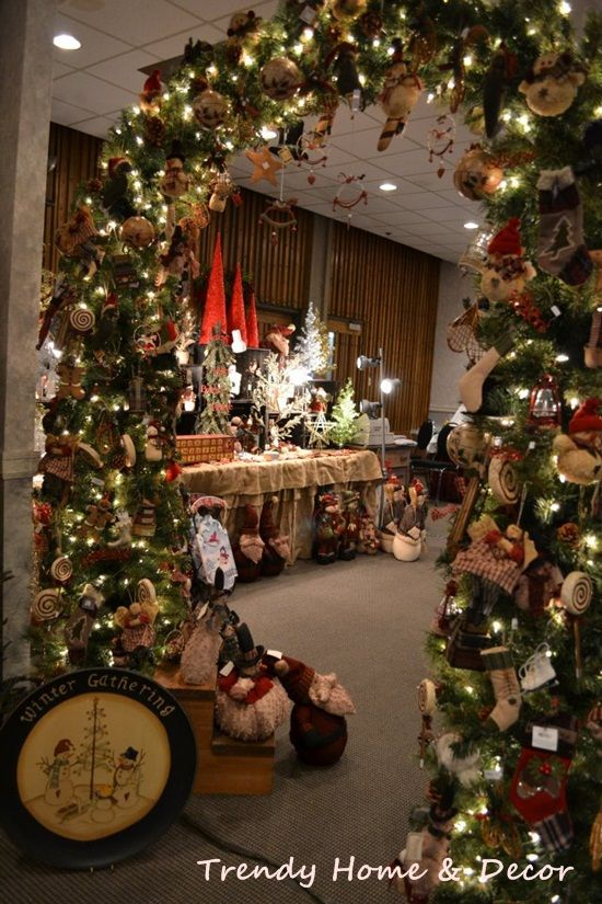 Delightful Christmas Craft Booth Ideas Part - 9: Christmas Craft Booth Display Idea. Cute Entrance Idea To Your Booth